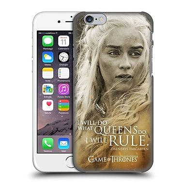 Official Hbo Game Of Thrones Character Portraits Daenerys Targaryen Hard Back Case For Apple Iphone 6 / 6S
