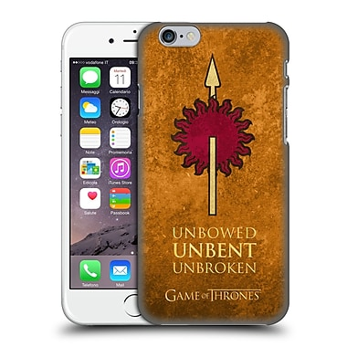 Official Hbo Game Of Thrones Dark Distressed Sigils Martell Hard Back Case For Apple Iphone 6 / 6S