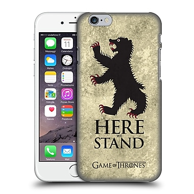 Official Hbo Game Of Thrones Dark Distressed Sigils Mormont Hard Back Case For Apple Iphone 6 / 6S
