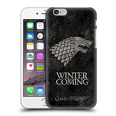 Official Hbo Game Of Thrones Dark Distressed Sigils Stark Hard Back Case For Apple Iphone 6 / 6S