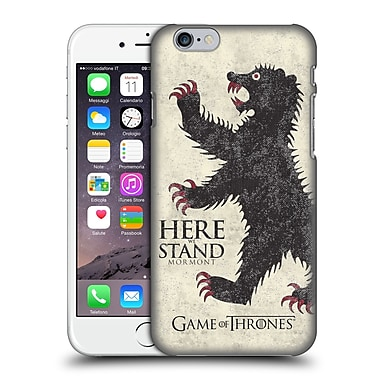Official Hbo Game Of Thrones House Mottos Mormont Hard Back Case For Apple Iphone 6 / 6S