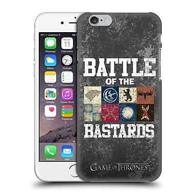 Official Hbo Game Of Thrones Battle Of The Bastards Distressed Text & Sigils Hard Back Case For Apple Iphone 6 / 6S