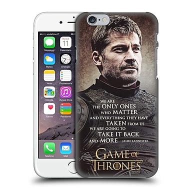 Official Hbo Game Of Thrones Character Quotes Jaime Lannister Hard Back Case For Apple Iphone 6 / 6S