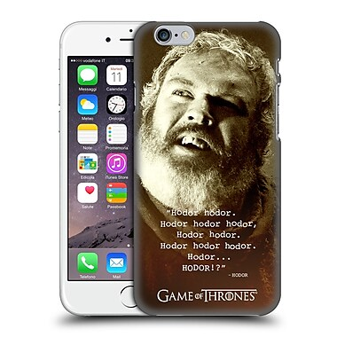 Official Hbo Game Of Thrones Hodor Memorial Type Quote Hard Back Case For Apple Iphone 6 / 6S