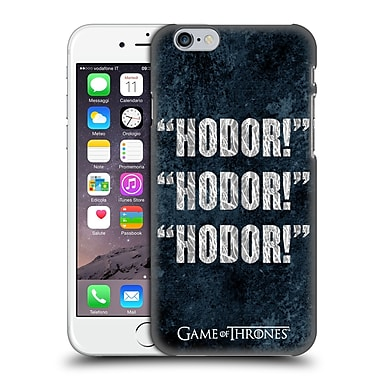Official Hbo Game Of Thrones Hodor Quote 1 Hard Back Case For Apple Iphone 6 / 6S