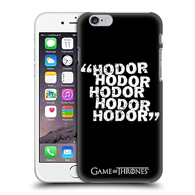 Official Hbo Game Of Thrones Hodor Quote 2 Hard Back Case For Apple Iphone 6 / 6S