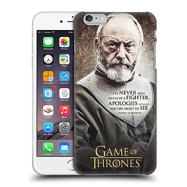 Official Hbo Game Of Thrones Character Quotes Davos Seaworth Hard Back Case For Apple Iphone 6 Plus / 6S Plus