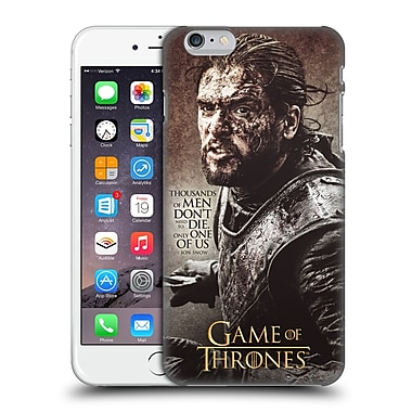 Official Hbo Game Of Thrones Character Quotes Jon Snow Hard Back Case For Apple Iphone 6 Plus / 6S Plus