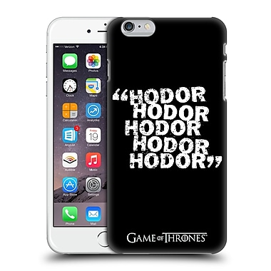 Official Hbo Game Of Thrones Hodor Quote 2 Hard Back Case For Apple Iphone 6 Plus / 6S Plus