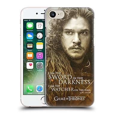 Official Hbo Game Of Thrones Character Portraits Jon Snow Hard Back Case For Apple Iphone 7