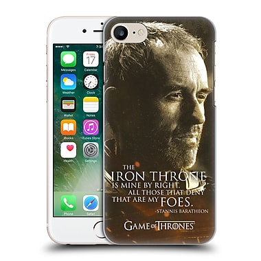Official Hbo Game Of Thrones Character Portraits Stannis Baratheon Hard Back Case For Apple Iphone 7