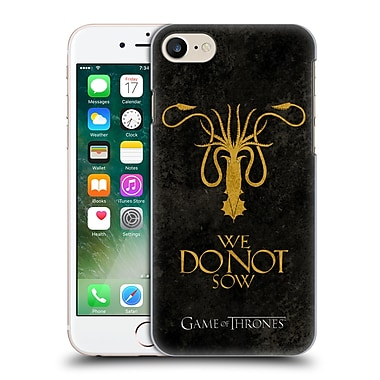 Official Hbo Game Of Thrones Dark Distressed Sigils Greyjoy Hard Back Case For Apple Iphone 7