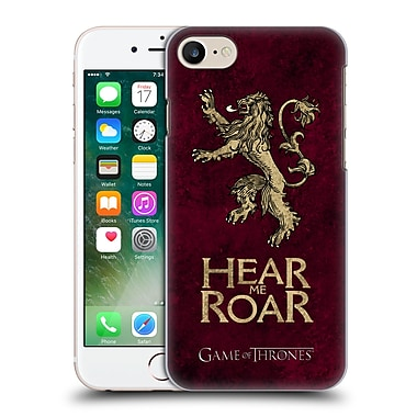 Official Hbo Game Of Thrones Dark Distressed Sigils Lannister Hard Back Case For Apple Iphone 7