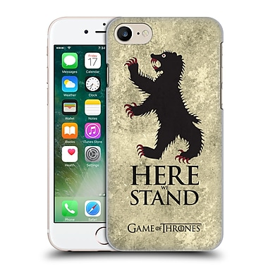 Official Hbo Game Of Thrones Dark Distressed Sigils Mormont Hard Back Case For Apple Iphone 7