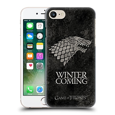 Official Hbo Game Of Thrones Dark Distressed Sigils Stark Hard Back Case For Apple Iphone 7