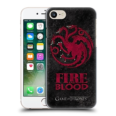 Official Hbo Game Of Thrones Dark Distressed Sigils Targaryen Hard Back Case For Apple Iphone 7