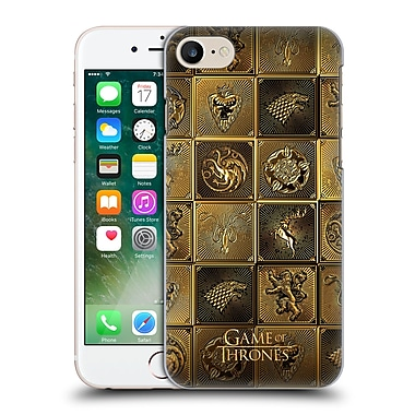 Official Hbo Game Of Thrones Golden Sigils All Houses Hard Back Case For Apple Iphone 7