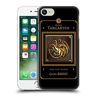 Official Hbo Game Of Thrones Golden Sigils Targaryen Border Hard Back Case For Apple Iphone 7