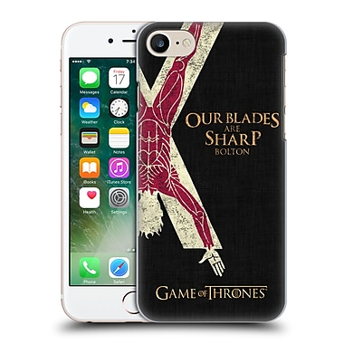 Official Hbo Game Of Thrones House Mottos Bolton Hard Back Case For Apple Iphone 7