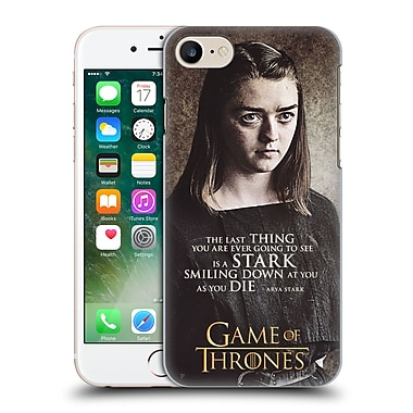 Official Hbo Game Of Thrones Character Quotes Arya Stark Hard Back Case For Apple Iphone 7