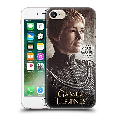 Official Hbo Game Of Thrones Character Quotes Cersei Lannister Hard Back Case For Apple Iphone 7