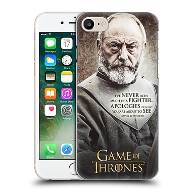 Official Hbo Game Of Thrones Character Quotes Davos Seaworth Hard Back Case For Apple Iphone 7