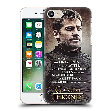 Official Hbo Game Of Thrones Character Quotes Jaime Lannister Hard Back Case For Apple Iphone 7