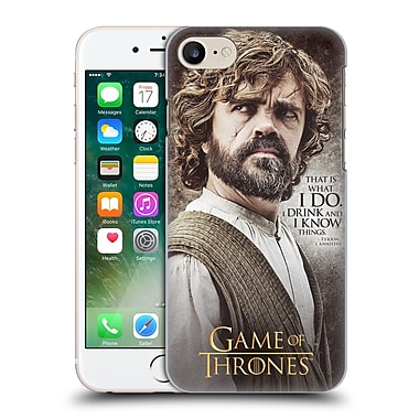 Official Hbo Game Of Thrones Character Quotes Tyrion Lannister Hard Back Case For Apple Iphone 7