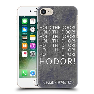 Official Hbo Game Of Thrones Hodor Hold The Door 2 Hard Back Case For Apple Iphone 7