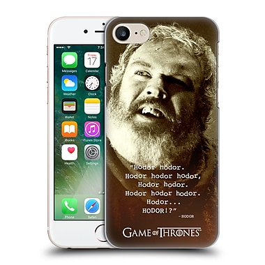 Official Hbo Game Of Thrones Hodor Memorial Type Quote Hard Back Case For Apple Iphone 7