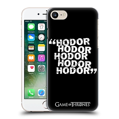Official Hbo Game Of Thrones Hodor Quote 2 Hard Back Case For Apple Iphone 7