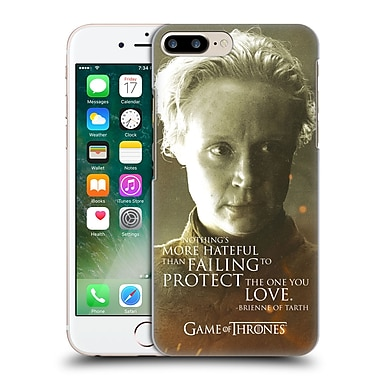 Official Hbo Game Of Thrones Character Portraits Brienne Of Tarth Hard Back Case For Apple Iphone 7 Plus