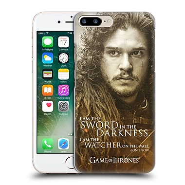 Official Hbo Game Of Thrones Character Portraits Jon Snow Hard Back Case For Apple Iphone 7 Plus