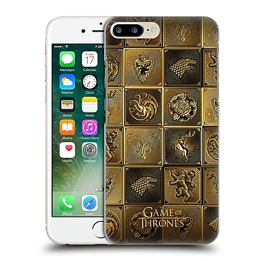 Official Hbo Game Of Thrones Golden Sigils All Houses Hard Back Case For Apple Iphone 7 Plus