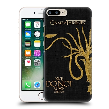 Official Hbo Game Of Thrones House Mottos Greyjoy Hard Back Case For Apple Iphone 7 Plus