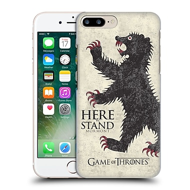 Official Hbo Game Of Thrones House Mottos Mormont Hard Back Case For Apple Iphone 7 Plus