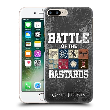 Official Hbo Game Of Thrones Battle Of The Bastards Distressed Text & Sigils Hard Back Case For Apple Iphone 7 Plus