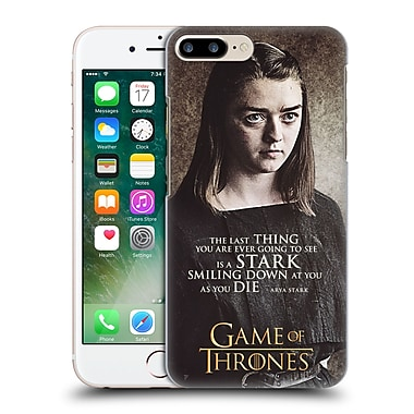 Official Hbo Game Of Thrones Character Quotes Arya Stark Hard Back Case For Apple Iphone 7 Plus
