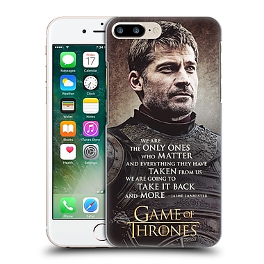 Official Hbo Game Of Thrones Character Quotes Jaime Lannister Hard Back Case For Apple Iphone 7 Plus