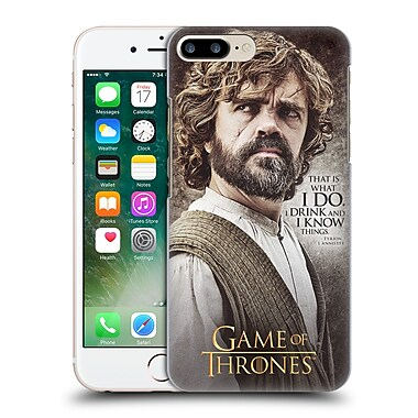 Official Hbo Game Of Thrones Character Quotes Tyrion Lannister Hard Back Case For Apple Iphone 7 Plus