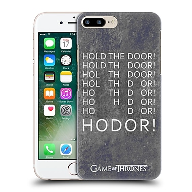 Official Hbo Game Of Thrones Hodor Hold The Door 2 Hard Back Case For Apple Iphone 7 Plus