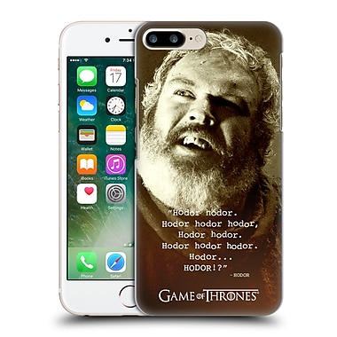 Official Hbo Game Of Thrones Hodor Memorial Type Quote Hard Back Case For Apple Iphone 7 Plus