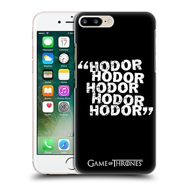 Official Hbo Game Of Thrones Hodor Quote 2 Hard Back Case For Apple Iphone 7 Plus