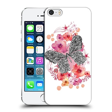 Official Monika Strigel Animals And Flowers Butterfly Hard Back Case For Apple Iphone 5 / 5S / Se