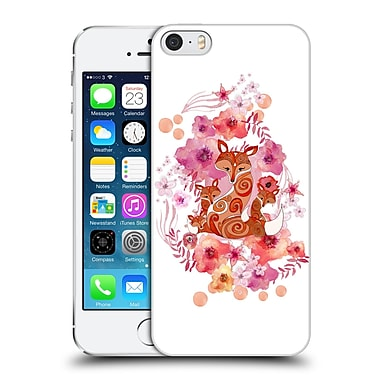Official Monika Strigel Animals And Flowers Fox Family Hard Back Case For Apple Iphone 5 / 5S / Se