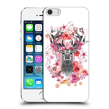 Official Monika Strigel Animals And Flowers Stag Aztec Hard Back Case For Apple Iphone 5 / 5S / Se