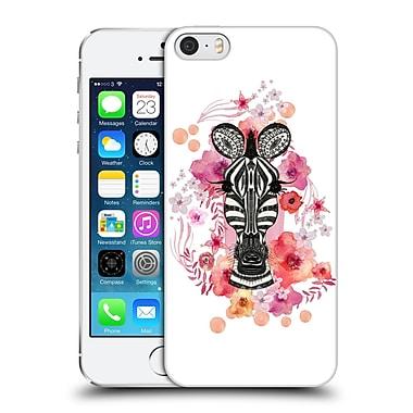Official Monika Strigel Animals And Flowers Zebra Hard Back Case For Apple Iphone 5 / 5S / Se