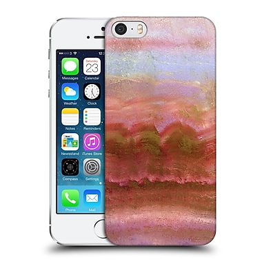 Official Monika Strigel Agate Gemstone Coral Hard Back Case For Apple Iphone 5 / 5S / Se