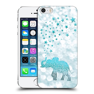 Official Monika Strigel Champagne Glitters 1 Happy Elephant Aqua Hard Back Case For Apple Iphone 5 / 5S / Se