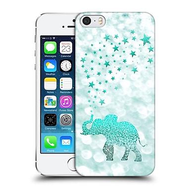 Official Monika Strigel Champagne Glitters 1 Happy Elephant Mint Hard Back Case For Apple Iphone 5 / 5S / Se
